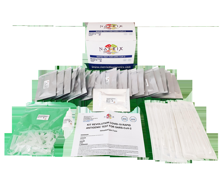 foto componenti kit test rapido antigenico sars-cov-2