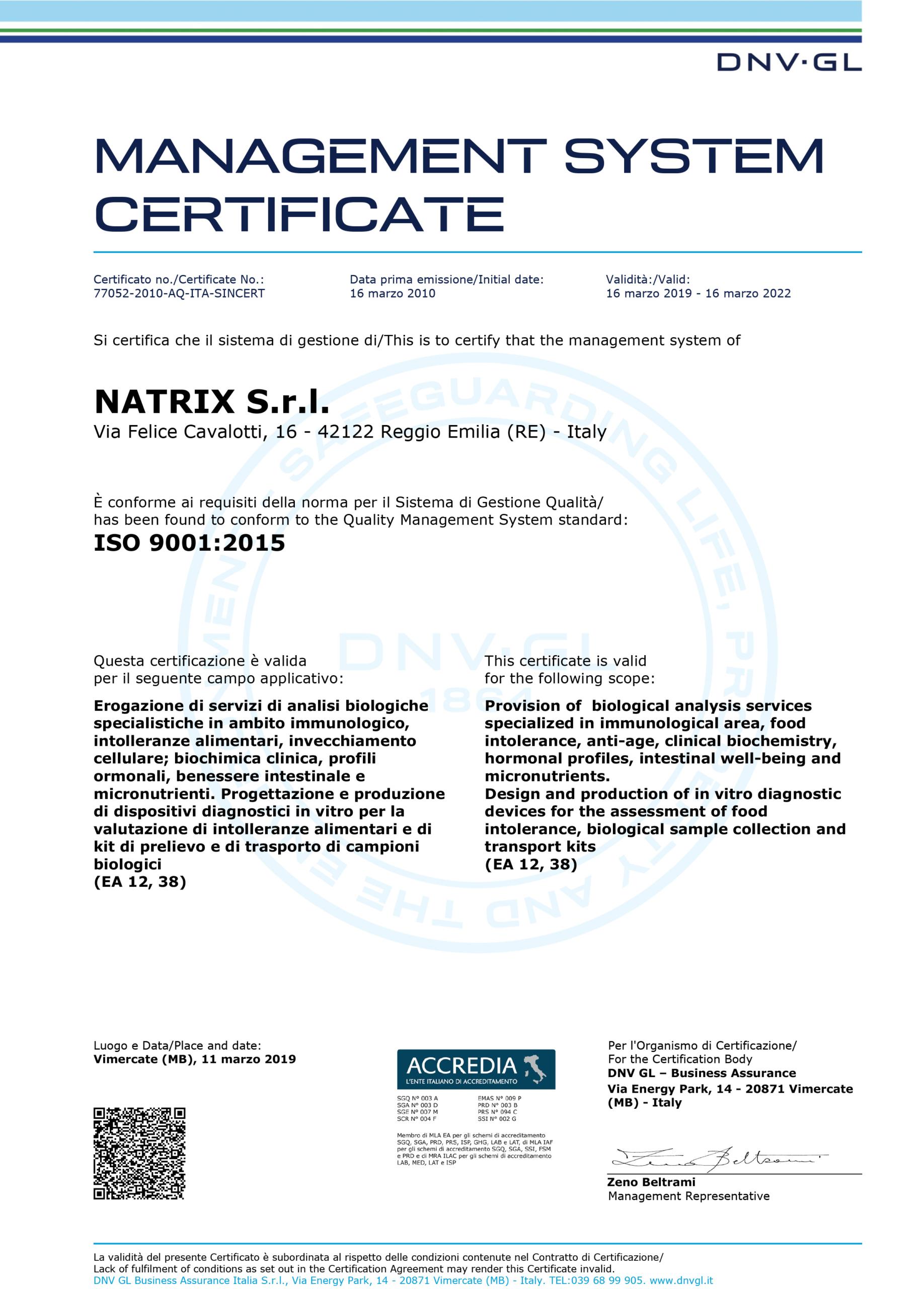 immagine certificazione iso 9001